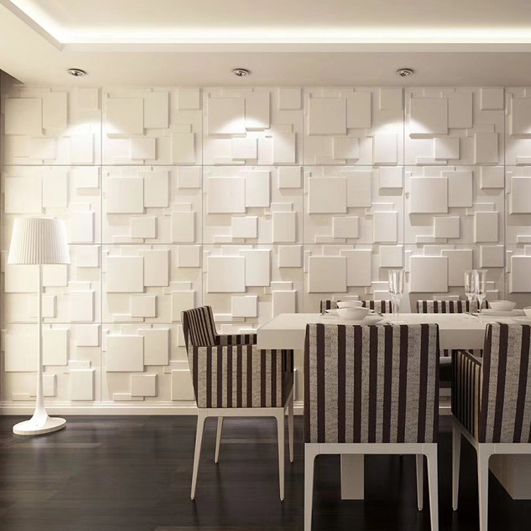 3d wallpaper home decor, white 3d wall panel, art 3d wall panel, 3d pvc wall panel interior decoration
